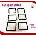 2 pçs/lote 38mm 42mm para iwatch melhor tela frente outer lente de vidro para reparar quebrado apple watch