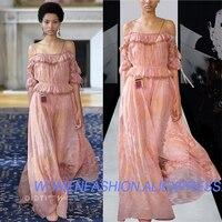 100% шелк high end праздник печати летнее платье, розовые пикантные vevestidos de fiesta платье макси Элегантный vestidos вечерние длинные платья