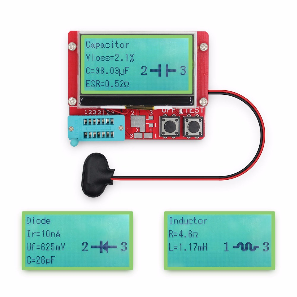 2015 New version ESR Meter 12864 LCD Transistor Tester Diode Triode ...