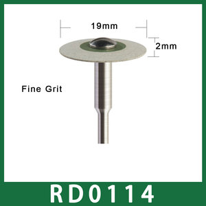 Image 4 - Size 19mm X 2mm Dental Laboratory Rubber Diamond Polisher 2.35mm for Low Speed Handpiece