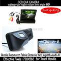 4.3 de polegada Carro Espelho Monitor + HD CCD visão traseira do carro Tronco alça Da Câmera para Skoda Fabia Octavia Roomster superb Yeti para Audi A1