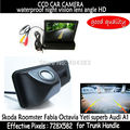 4.3 inch Car Mirror Monitor + HD CCD car rear view Trunk handle Camera for Skoda Roomster Fabia Octavia Yeti superb for Audi A1