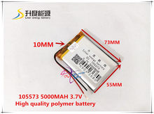 3.7V 5000mAH 105573 polymer lithium ion / Li-ion battery for model aircraft cell phone speaker power bank CAR DVR(China)
