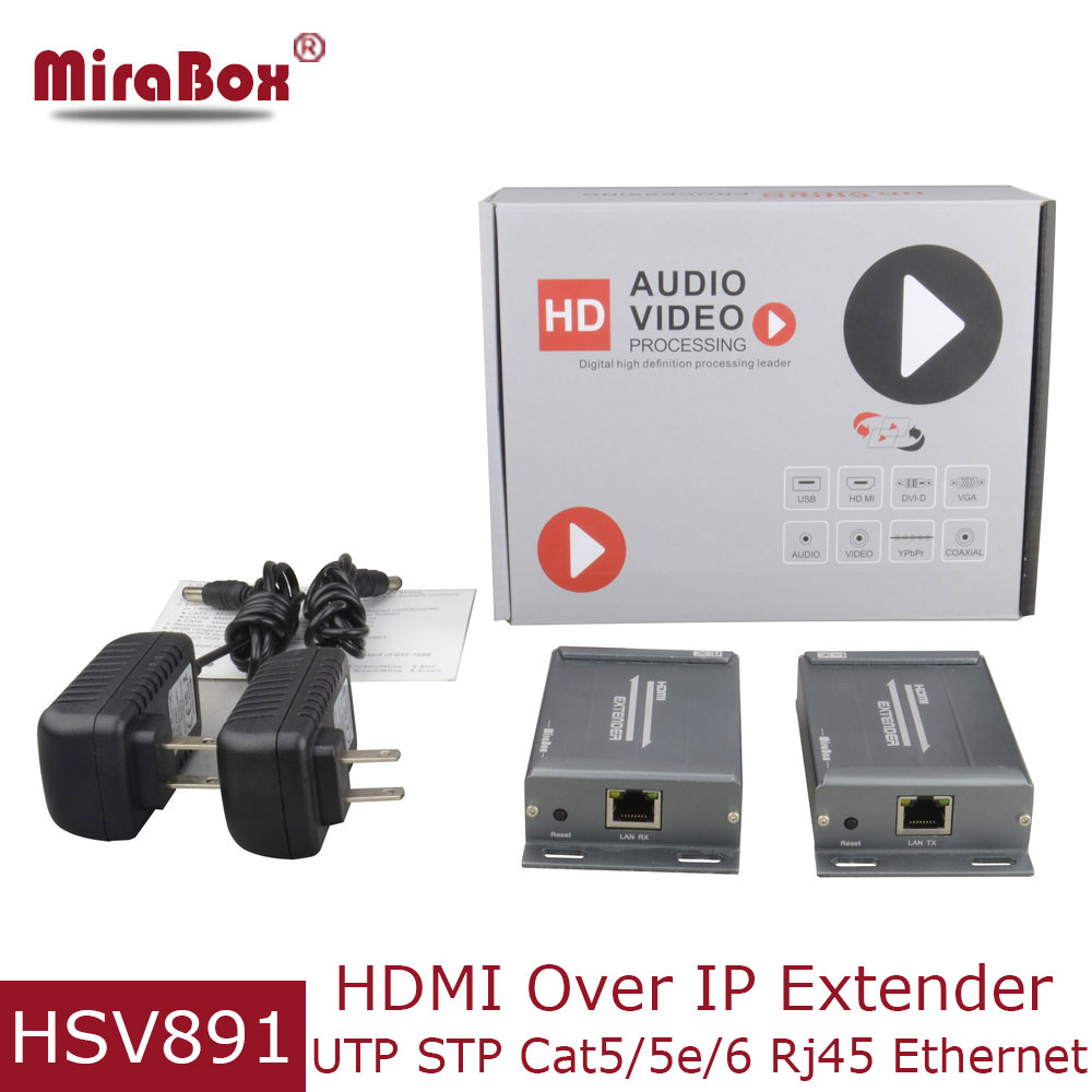 MiraBox HDMI Extender 120m Over IP/TCP Support 1080p 1080i Full HD Via Cat5/Cat5e/Cat6/6e Rj45 UTP/LAN/STP HDMI TX RX Extender hsv379 200m hdmi over coax extender support 1080p hdmi extender over coaxial