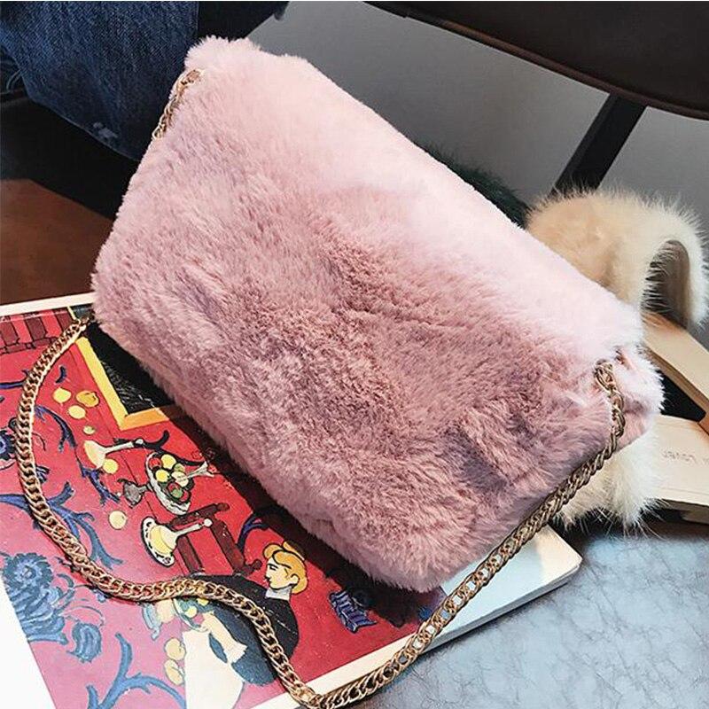 Della Calda Cluth Piccolo Di pink A Carino Bag brown Signore Borsa black Uccelli Bag Pink Flap 2017 Chic Volo Tracolla Women Catena Bag Mano Bag A3433 Rosa New Messenger Peluche B Winter OqvxUH