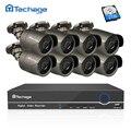 Techage 8CH 1080P HDMI POE NVR Kit CCTV Camera System 2MP Outdoor Security IP Camera P2P Video Surveillance System Set 2TB HDD