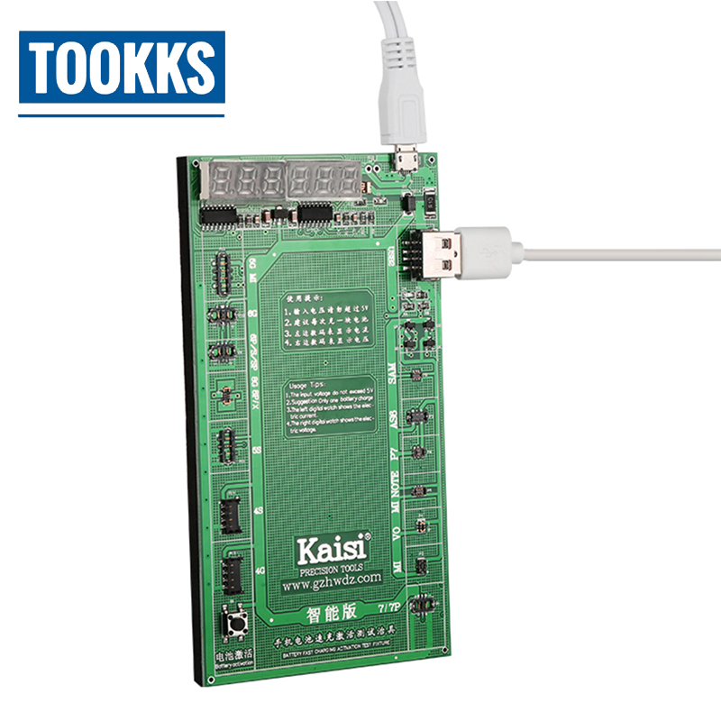 Kaisi K-9208 Battery Activation Charge Board Display Cable Jig For Iphone Huawei Mobile Phones And Ipad Tools