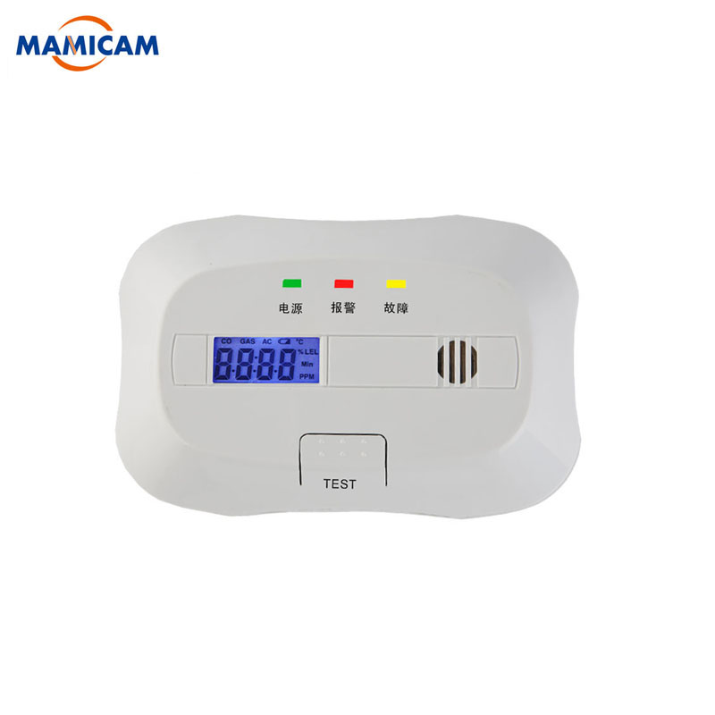 Battery Operated Carbon Monoxide Detector Poisoning Gas Fire Warning Safe Alarm LCD Display with Clock Voice smartyiba battery operated co carbon monoxide detector poisoning gas sensor alarm lcd photoelectric co detector with clock voice