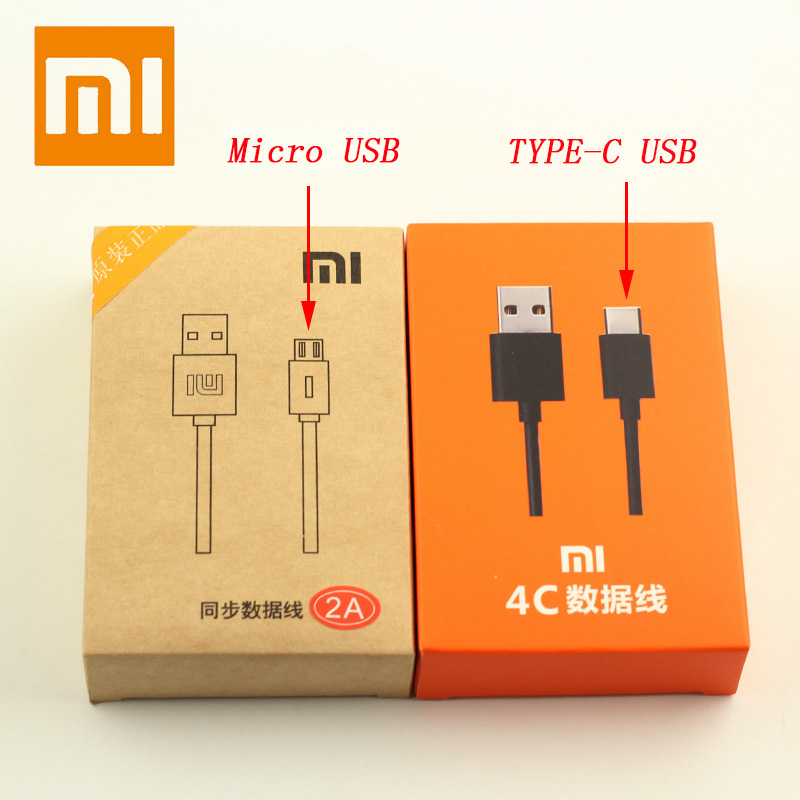 Original Micro/TYPE C Fast Charge Data Line For XIAOMI MI A1 A2 8 SE Max 4 5 5C 5S 6 6X Redmi 3 3s 4 4A 4X 5A 6 Note 4 4X 5 Plus