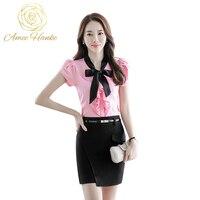 Women Short Sleeve Office Blouse 81708