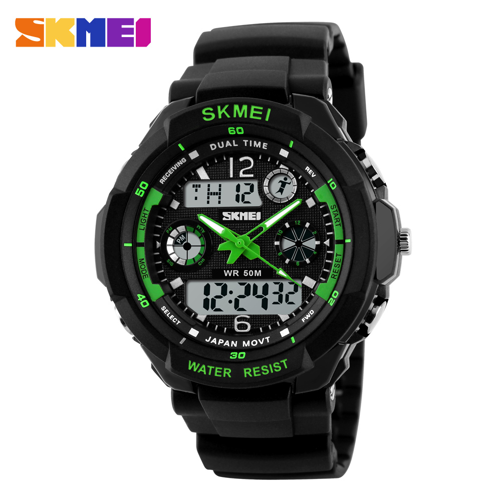 New SKMEI Brand Mens Outdoor Sports Watches Men LED Digital Quartz Multifunction Wristwatches Shock Resist Military Army Watches outlife new style professional military tactical multifunction shovel outdoor camping survival folding spade tool equipment