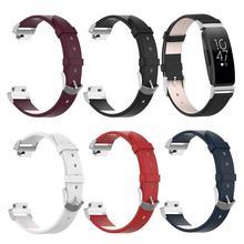Correa de reloj de pulsera de cuero genuino Inspire HR Fitness Trackers correa de repuesto para Fitbit