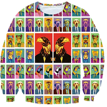 Eagle 3d Sweatshirts men 3D Sweatshirt male 2016 Autumn Winter Long Sleeve Hoodie fashion Print Sweatshirt free shipping