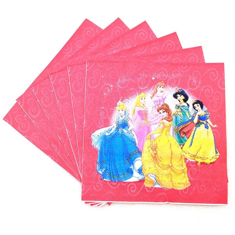 Image 5 - Disney seis princesa belle tema design 83 pçs/lote conjuntos de  utensílios de mesa descartáveis meninas festa de aniversário tema  decoração fonteTalheres de festa descartáveis