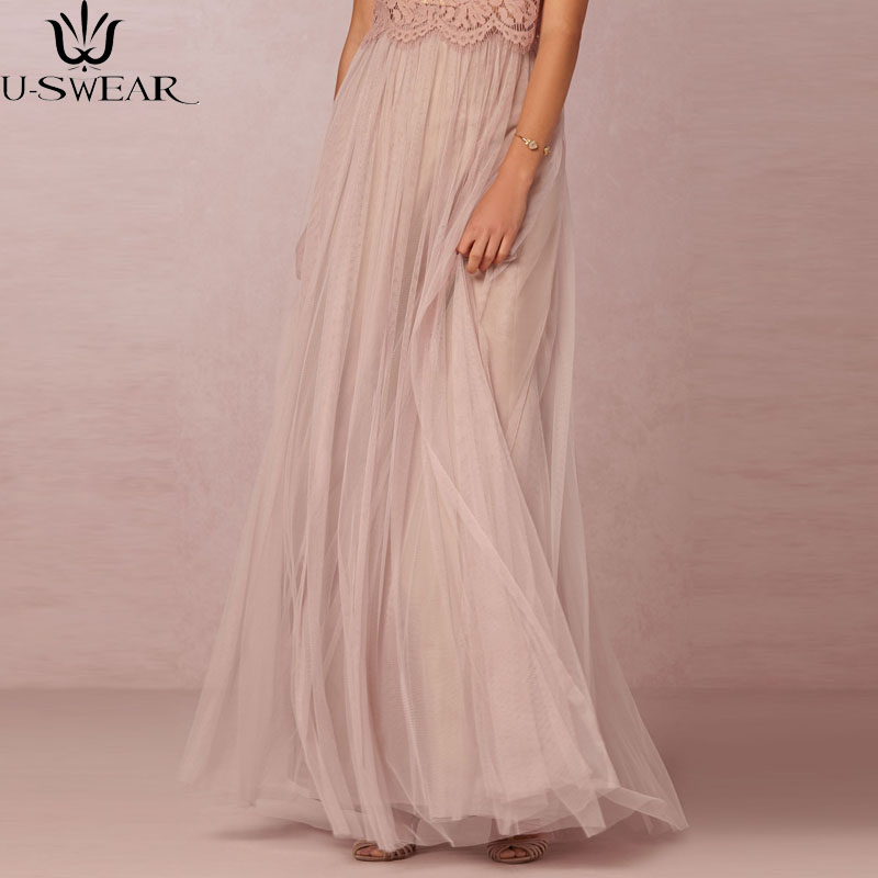 Long Tulle Skirt Casual Floor Length Womens Maxi Pink Bridesmaids Women Wedding Vestido