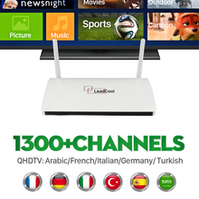 French Arabic IPTV Box Leadcool Android Set Top Box VIP Sports Italy UK Italy Europe 1300 QHDTV Abonnement Live TV APK Included