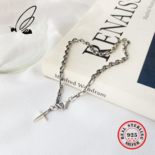 цена на Real 925 Sterling Silver Simple Retro Vintage Ethnic Cross Bracelets Women Fine Jewelry Thai Silver Bracelet Gift Free Shipping
