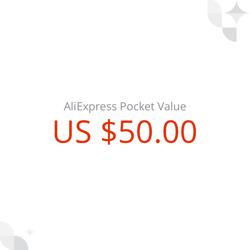 US $ 50 AliExpress Pocket