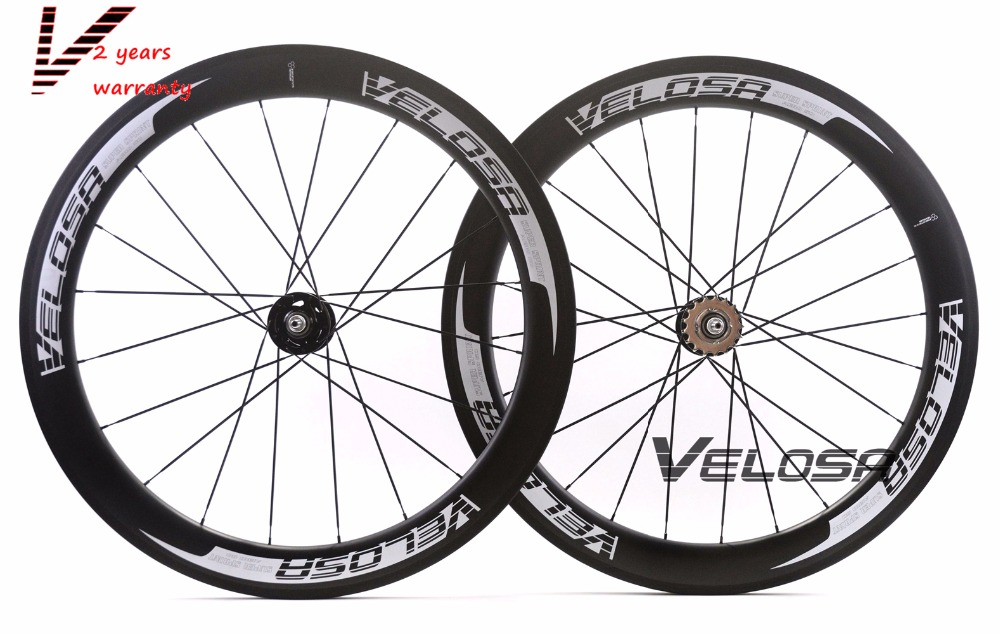Velosa super sprint 60 700C  track bike carbon wheelset,60mm clincher/tubular,fixed gear street bike carbon wheel velosa supreme 50 bike carbon wheelset 60mm clincher tubular light weight 700c road bike wheel 1380g