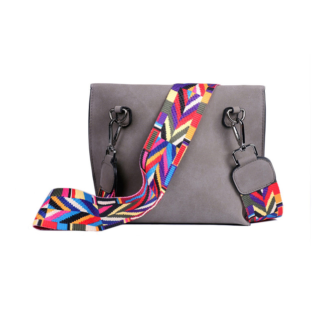 EXCELSIOR Hot Selling Women's Bags Quality Scrub PU Crossbody Bag Stylish Women's Bag Tassel Shoulder Bags with Colorful Strap 2