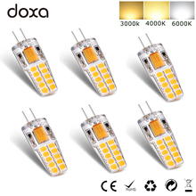 цена на 6pcs 2018 G4 LED Lamp 12V AC DC 3W Waterproof Lampadas LED G4 Bi-Pin base Bulb 2835 SMD 20LED Light Bulbs Equivalent 30W Halogen