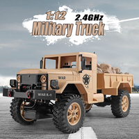 News Arrival 124301 WLtoys 2.4G RC Car 1:12 Military Truck 4WD Remote Control Vehicle Army Truck Electric Toy for Boys Gifts