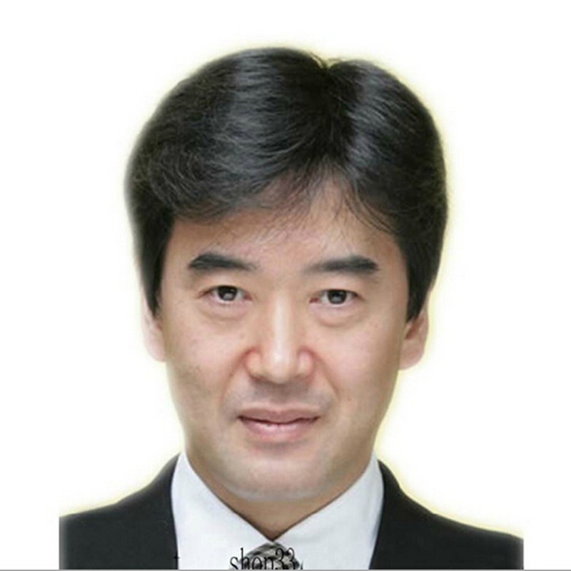 Hair Gift Japa Cheveux Ocean Peruvian Man Black Male Short Cosplay Gray Dark-Brown Perruque