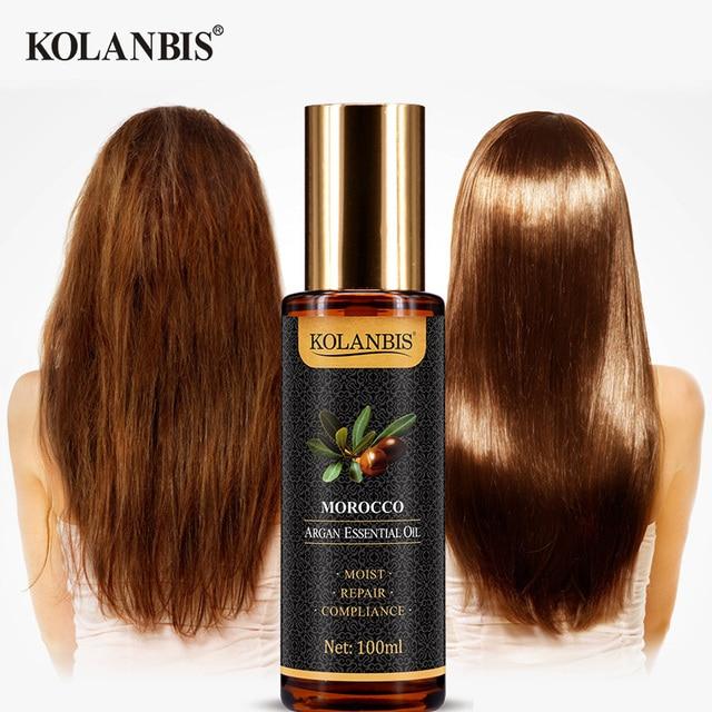 Natural Pure Moroccan Argan Hair Essential Oil Leave In Conditioner For Split Ends Long Hair Treatment Organic Argan Oil Serum 6