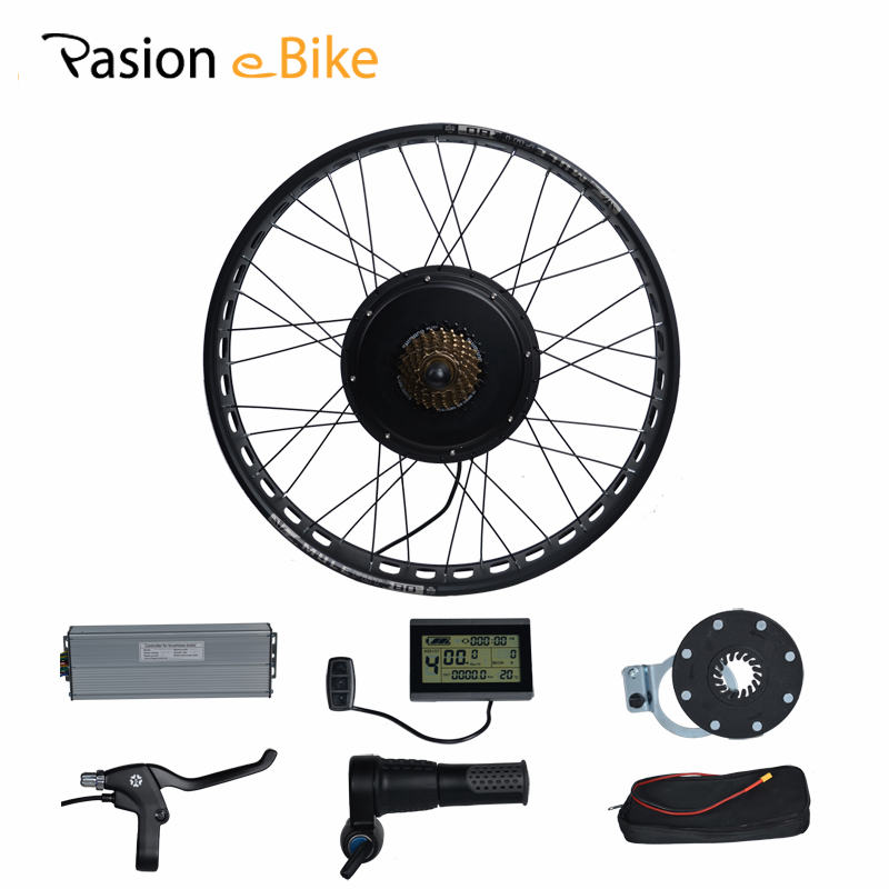 PASION E BIKE 48V 1500W Electric Bicycle Fat Bikes Conversion Kit 20'' 26 Wheel Motor For 190mm Hub Motor pasion e bike 48v 500w electric fat bikes bicycle gear hub motor conversion kit bafang 190mm 26 rear wheel 80mm rims