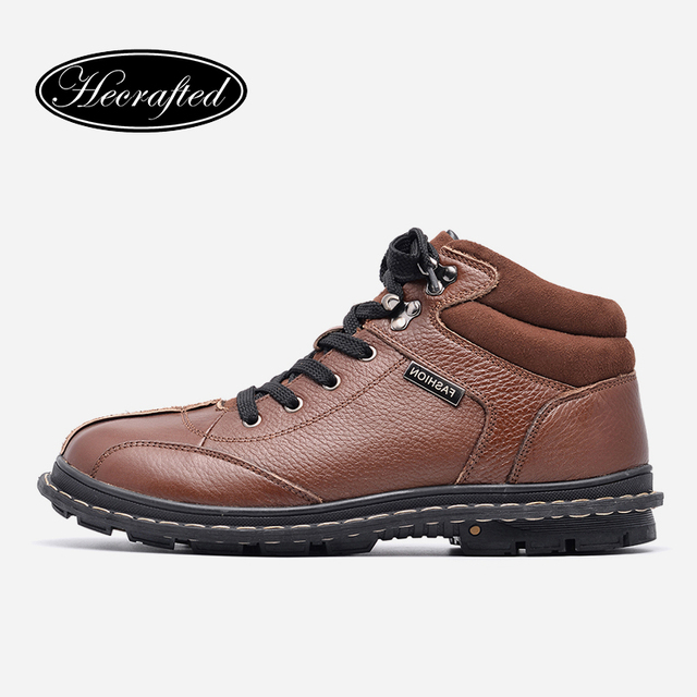 HECRAFTED Natural cow leather Winter boots #9903