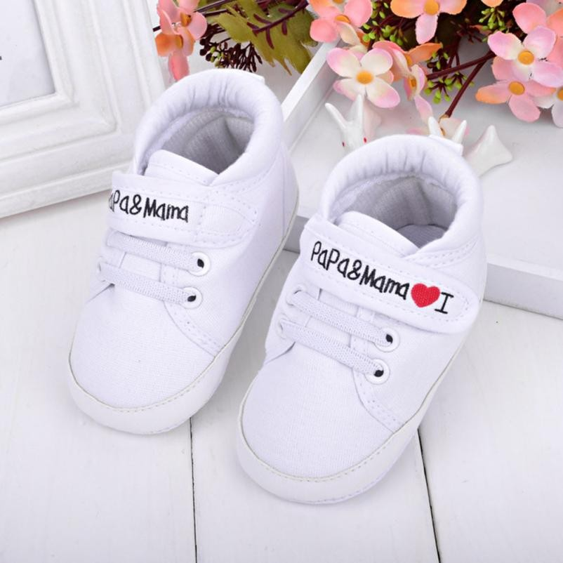 Baby Girl First Walkers Toddler shoes Unisex Baby Infant Kid Soft Sole Canvas Sneaker Hook & Loop Footwear Crib Shoes hot sale