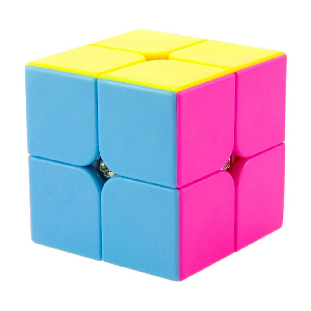 Terbaru Yongjun YJ Yupo 2x2x2 Profissional Magic Cube Kompetisi Kecepatan Puzzle Kubus Mainan Untuk Anak Anak cubo magico