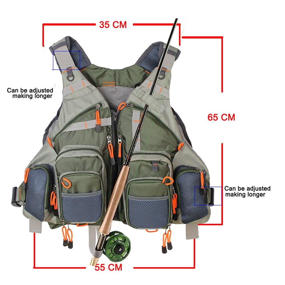 Купить с кэшбэком Multi Function Fishing bag Adjustable Mesh Vest  Outdoor Fly Fishing Vest With fishing Tackle baits Box and Spoon Lure kits