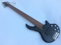 Stock 6 String Fretless Bass Guitar