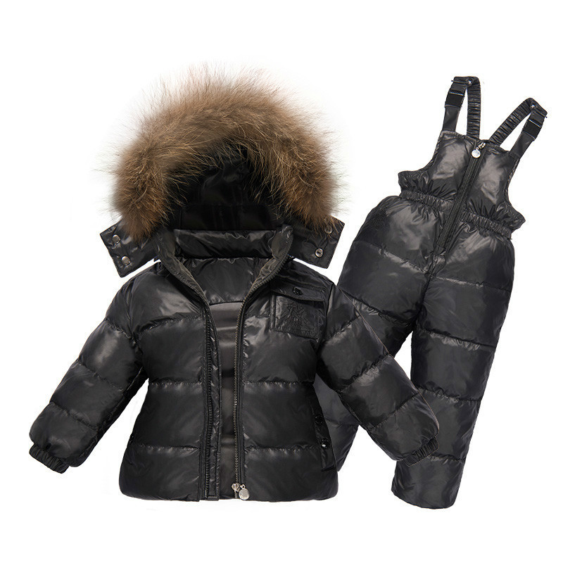 Children Winter Clothing Set Boys Ski Suit Girl Down Jacket Coat + Jumpsuit Set 1-6 Years Kids Clothes For Baby Boy/Baby Girl 30degrees russia winter baby outerwear children clothing set boy girl ski outdoor sport suit kids down jacket coat trousers fur