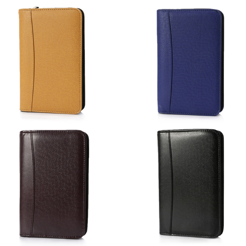 1 X A6 Notebook PU Leather Cover A6 Zipper Notebook Loose-Leaf Business Notepad With Calculator High Quality 2018 fashion business notebook business loose leaf notebook a5 notebook with calculator multi functional loose leaf