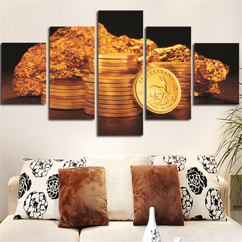 Flooooodons ensemble ! - Page 11 2016-Unframed-Wall-font-b-Painting-b-font-font-b-Gold-b-font-Coins-Posters-Canvas