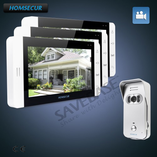 HOMSECUR 7 Wired Video&Audio Home Intercom+Silver Camera+Russian Local Delivery ...