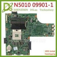 KEFU 09909-1 Für DELL inspiron N5010 motherboard CN-0VX53T 0V X 53T VX53T 09909-1 48.4HH01.011 HM57 ohne GPU original-Test