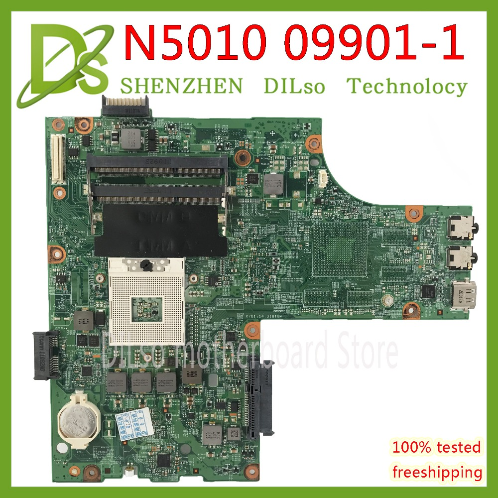 KEFU 09909-1 For DELL Inspiron N5010 CN-0VX53T 0VX53T VX53T 09909-1 48.4HH01.011 HM57 Without GPU Original Test Motherboard