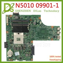 Kefu 09909-1 для DELL inspiron N5010 CN-0VX53T 0 V X 53 T VX53T 09909-1 48.4HH01.011 HM57 без GPU оригинальный Тесты материнская плата