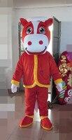 Последние высокого качества красный конь костюм талисмана для взрослых праздник специальной одежды