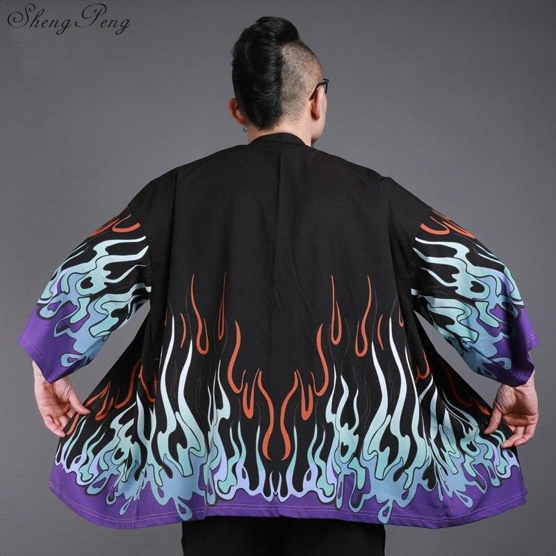Japanese kimono traditional kimono cardigan kimono jacket yukata men print casual loose tops yukata japan tops V1423 cardigan