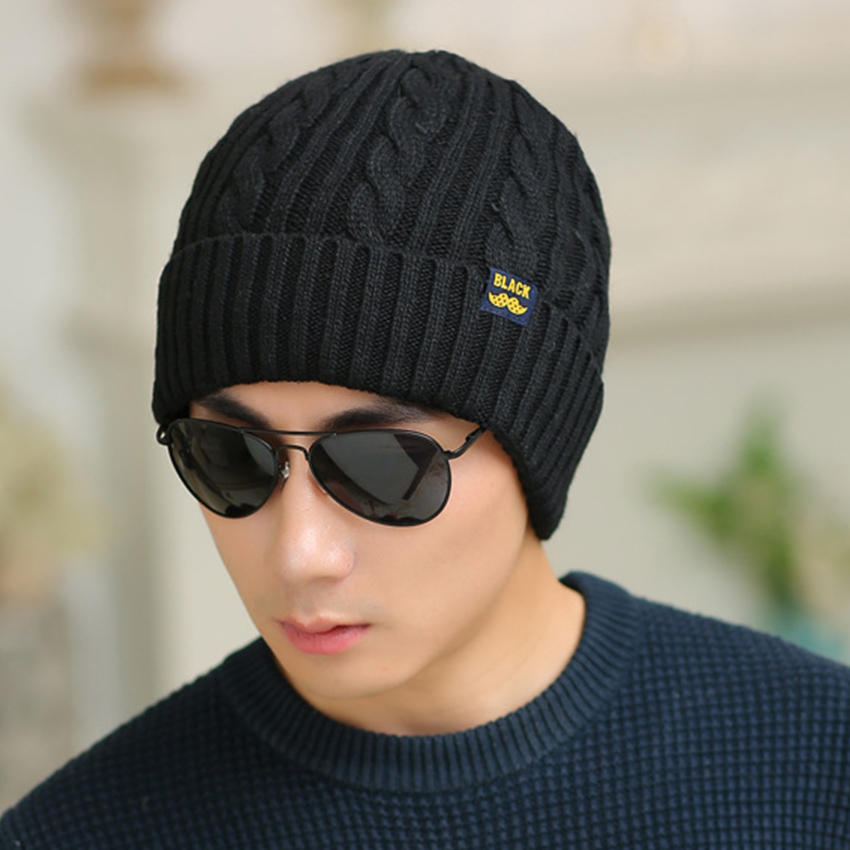 Fashion Autumn Winter Men's Hats Good Quality Wool Knitted Cap Super Cool Beard Hat for The Winter Hedging Hat Male Autumn