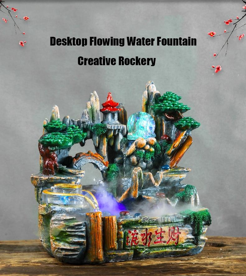 escritório mesa ornamentos artesanato micro paisagem umidificador