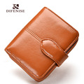Difenise Fashion Brand Women Leather Coin Purse Zipper Cowhide Change Purse Genuine Leather Female Wallet Women's Hasp Wallets