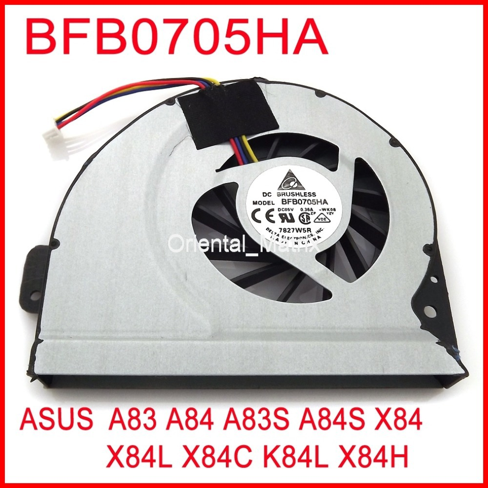 Brand New BFB0705HA Cooler Fan For ASUS A83 A84 A83S A84S X84 X84L X84C K84L X84H Computer Graphics Card Cooling FAN image