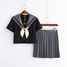 New Arrival Hexagonal Star School Outfits Japanese/Korean Cute Girls Sailor suit Student Uniforms Top+Skirt+Tie 3Pcs/Set