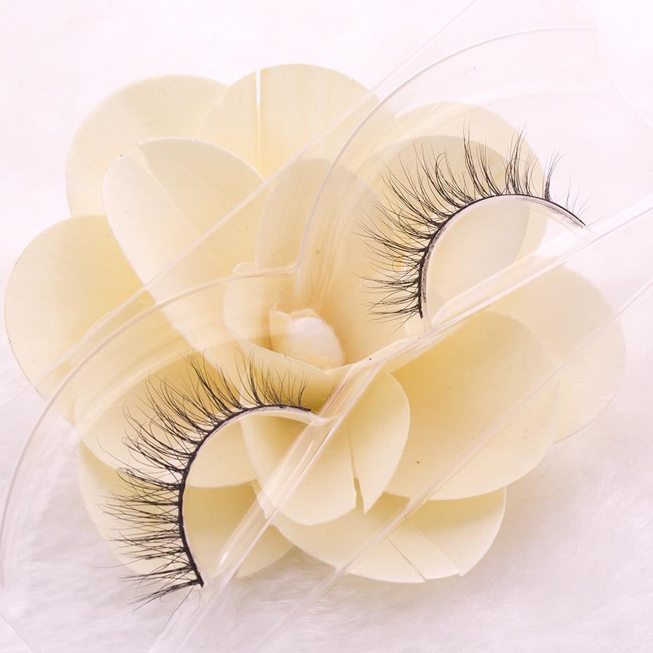 1 Para Rzęs 3D Prawdziwe Naturalne Rzęsy Mink Naturalne Długie - Makijaż - Zdjęcie 5