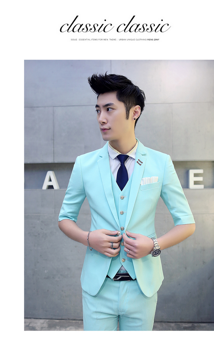 Mens Dress Suits 2016 New Summer Costume Marriage Homme Candy Color ...